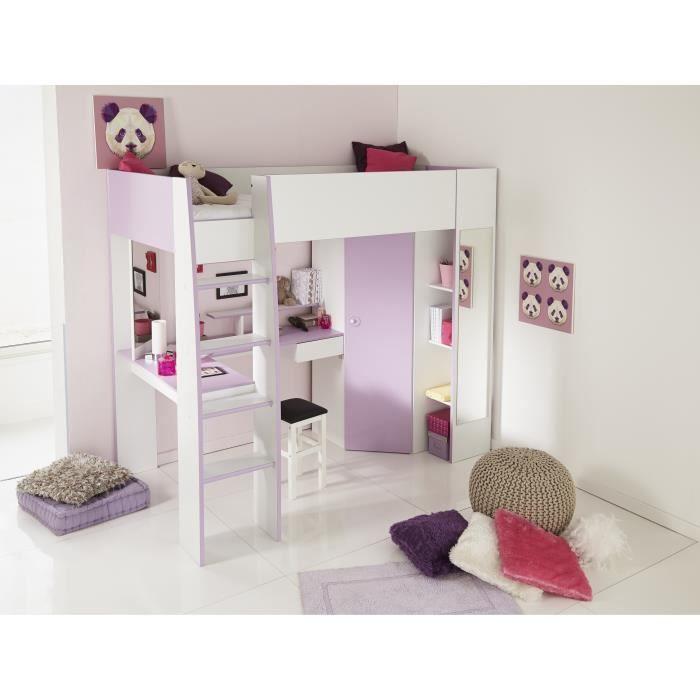 Lit mezzanine avec bureau - Achat / Vente Lit mezzanine avec ...