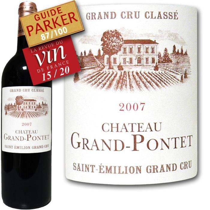 VIN ROUGE Ch. Grand Pontet St-Emilion Grand Cru Classé 2007