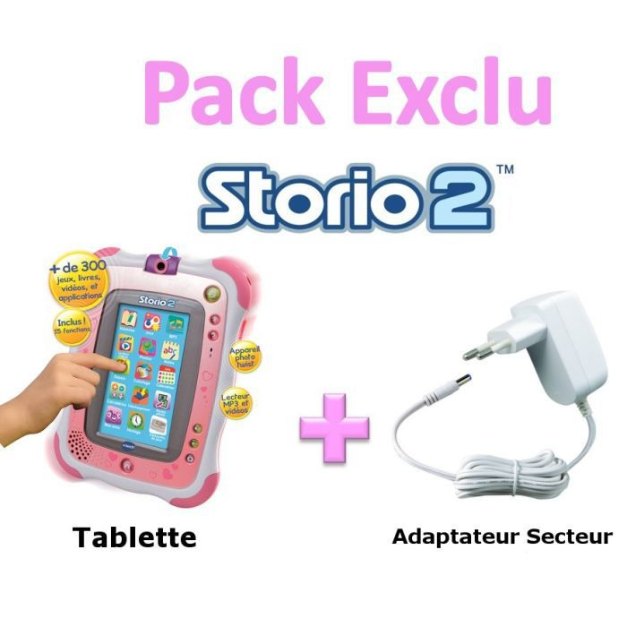 pack exclu storio 2 rose adaptateur achat vente tablette enfant cadeaux de no l cdiscount. Black Bedroom Furniture Sets. Home Design Ideas