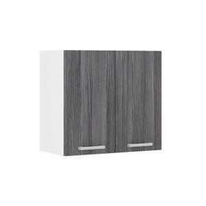 ÉLÉMENTS HAUT ULTRA Meuble haut de cuisine L 60 cm - Décor chêne