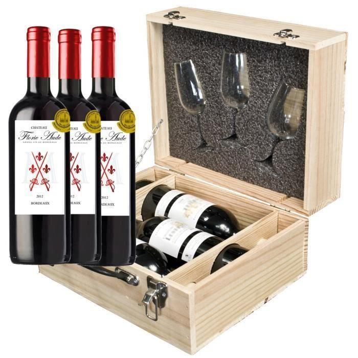 destockage coffret vin trio d gustation avec verres inao coffret cadeau vin au meilleur prix. Black Bedroom Furniture Sets. Home Design Ideas