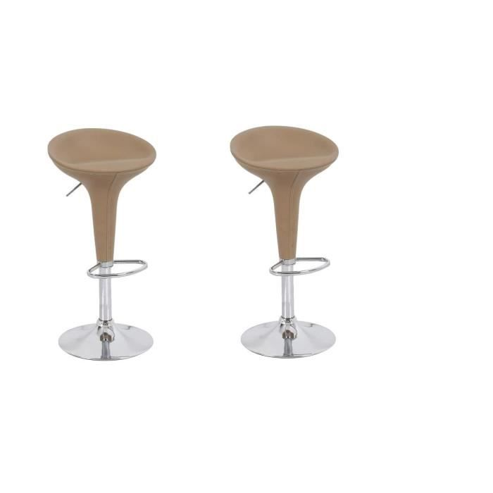 eden lot de 2 tabourets de bar taupe achat vente. Black Bedroom Furniture Sets. Home Design Ideas
