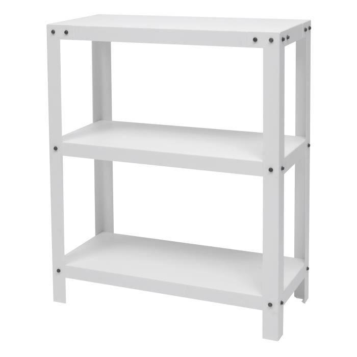 Metalik etag re meuble style industriel en acier laqu for Meuble bibliotheque profondeur 20 cm