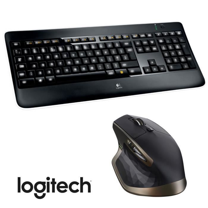 logitech clavier k800 souris mx master prix pas cher cdiscount. Black Bedroom Furniture Sets. Home Design Ideas