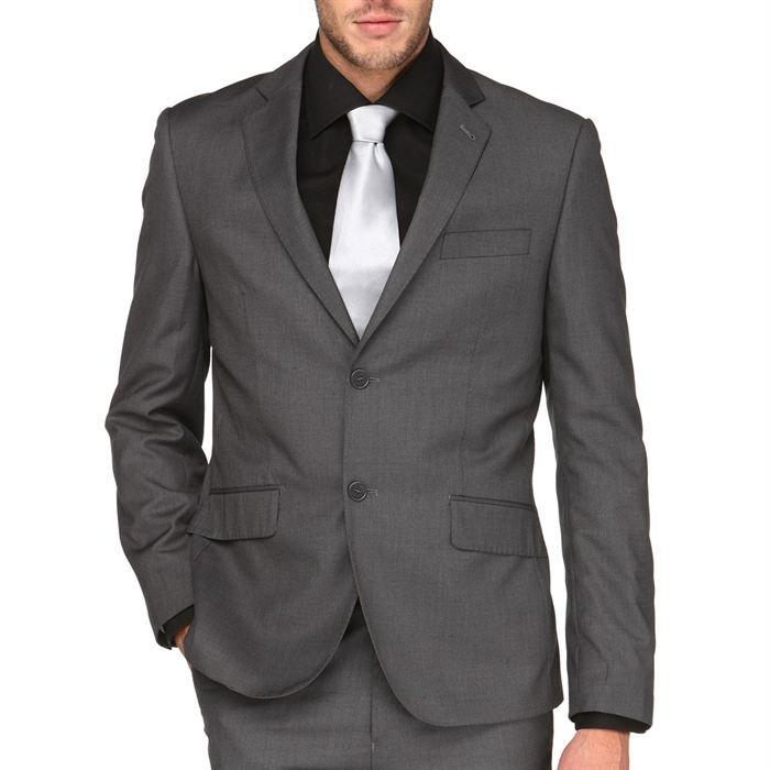 Costumes pour hommes gris - Costume gris fonce ...