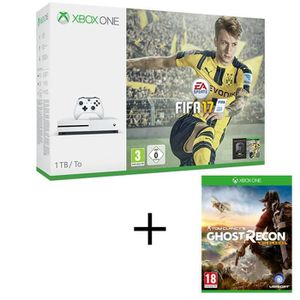 CONSOLE XBOX ONE NOUV. Xbox One S 1To + FIFA 17 + Ghost Recon Wildlands