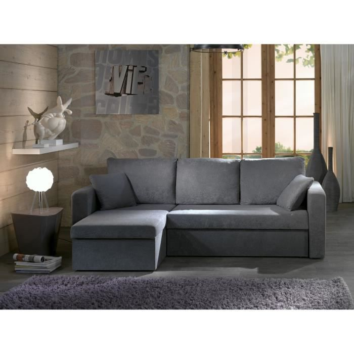 Santiago canap convertible lit angle r versible coffre for Canape d angle large assise