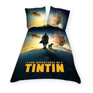 PARURE DE DRAP Parure de couette enfant Tintin Globe