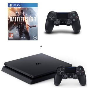 CONSOLE PS4 NOUVEAUTÉ Nouvelle PS4 Slim Noire 500 Go + Battlefield 1 + 2