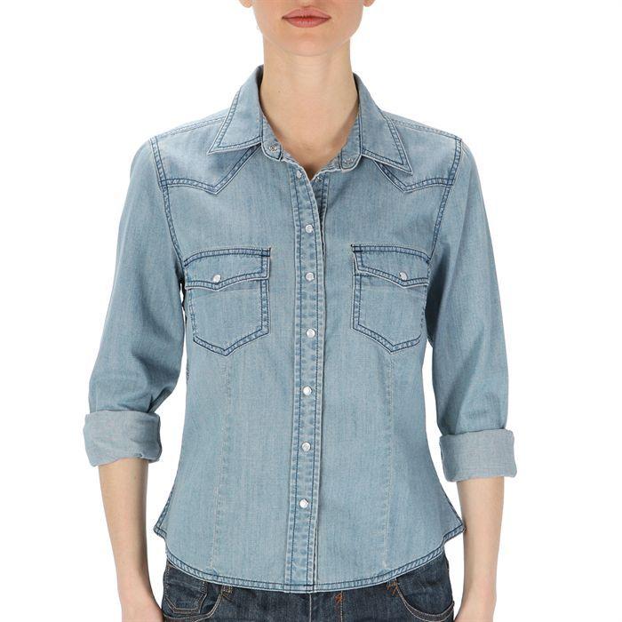 chemise en jean homme les bons plans de micromonde. Black Bedroom Furniture Sets. Home Design Ideas