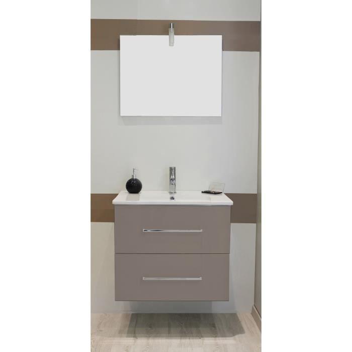 Shiloh salle de bain compl te simple vasque laqu taupe achat vente sal - Salle de bain complete ...