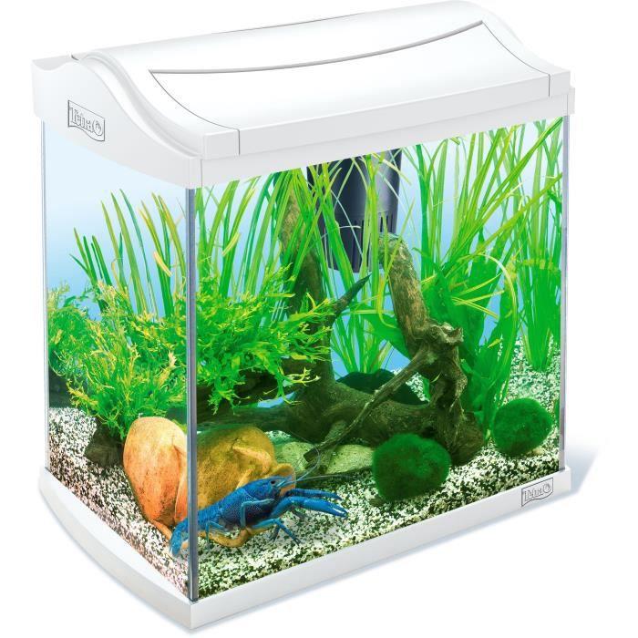 Tetra aquarium aquaart 30l blanc achat vente for Aquarium pas cher 50l
