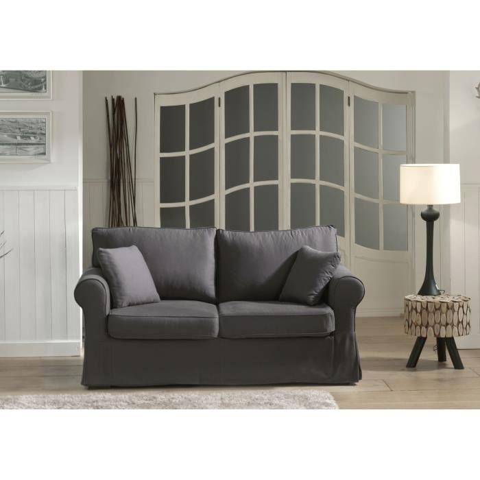 Anthracite Achat / Vente canapé sofa divan Structure en bois