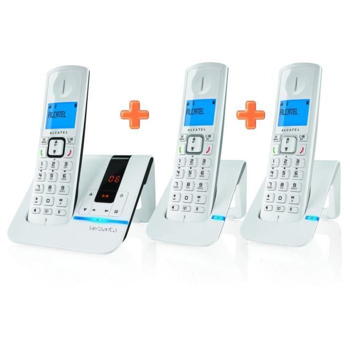 Téléphone fixe ALCATEL F250 VOICE TRIO Gris