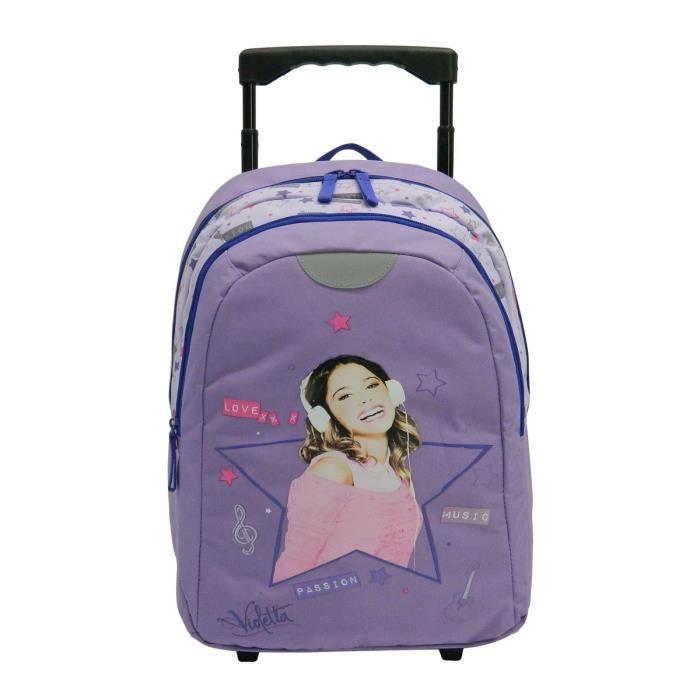 violetta sac dos trolley enfant fille violet achat vente sac dos 4891320377431 cdiscount. Black Bedroom Furniture Sets. Home Design Ideas