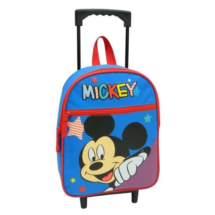 mickey sac dos roulettes 31 cm gar on bleu et rouge achat vente sac dos mickey sac dos. Black Bedroom Furniture Sets. Home Design Ideas