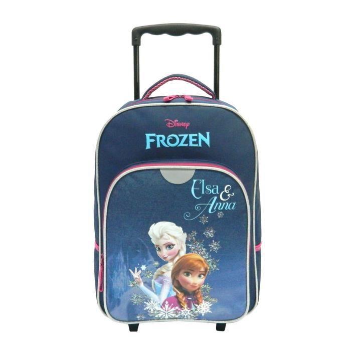 la reine des neiges sac dos trolley enfant fille bleu achat vente sac dos frozen sac. Black Bedroom Furniture Sets. Home Design Ideas