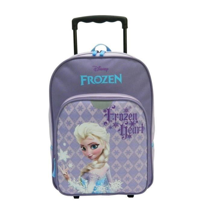 la reine des neiges sac dos trolley enfant fille violet achat vente sac dos frozen sac. Black Bedroom Furniture Sets. Home Design Ideas