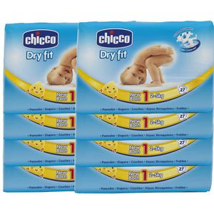 COUCHE CHICCO PACK 1 Mois Dry Fit - Taille 1 - 2 à 5Kg -