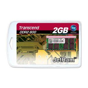 MÉMOIRE RAM Transcend JetRam Mémoire Sodimm DDR2 2 Go 800MHz