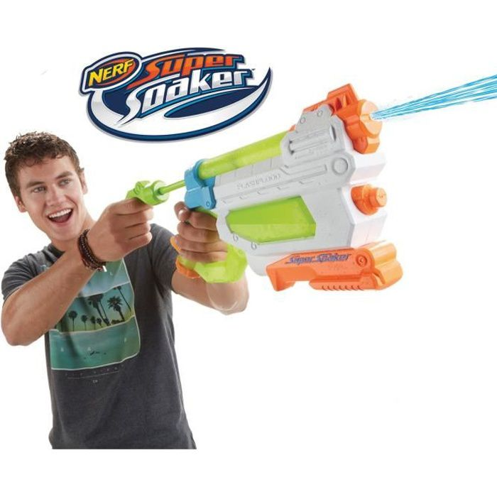 nerf super soaker flashflood blaster pistolet eau achat vente pistolet eau cdiscount. Black Bedroom Furniture Sets. Home Design Ideas