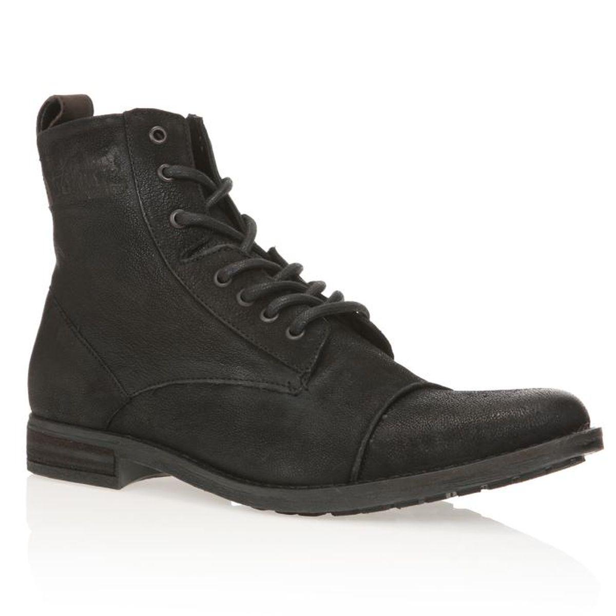 levis boots maine lace up homme homme noir achat vente levis boots maine lace up homme pas. Black Bedroom Furniture Sets. Home Design Ideas