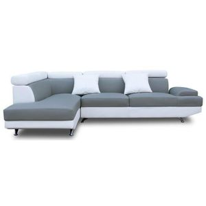 canape d angle gris et blanc achat vente canape d angle gris et blanc pas cher les soldes. Black Bedroom Furniture Sets. Home Design Ideas