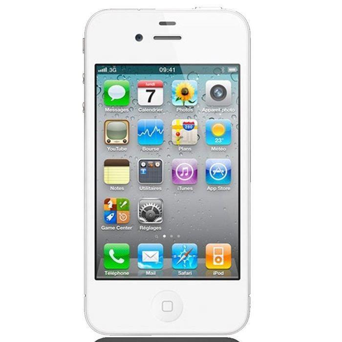 iphone 4 8go blanc bloqu bouygues achat smartphone pas. Black Bedroom Furniture Sets. Home Design Ideas