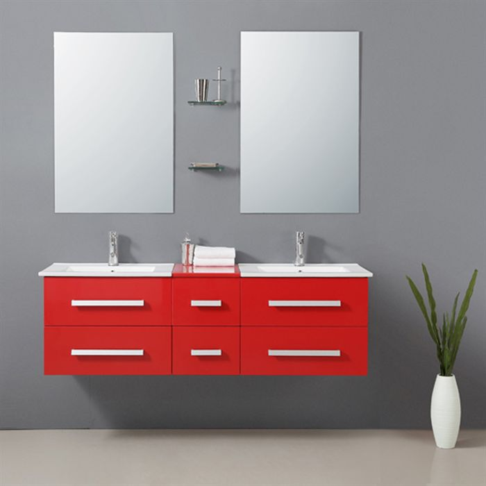Object moved - Meuble salle de bain rouge ikea ...