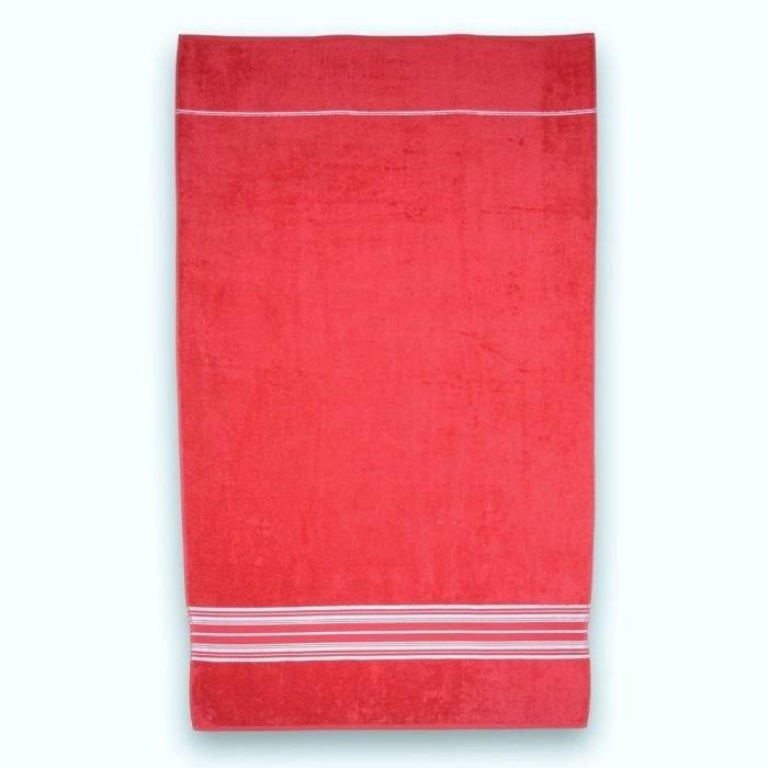 drap de plage 90x150cm 380gr m rouge achat vente serviette de plage cdiscount. Black Bedroom Furniture Sets. Home Design Ideas