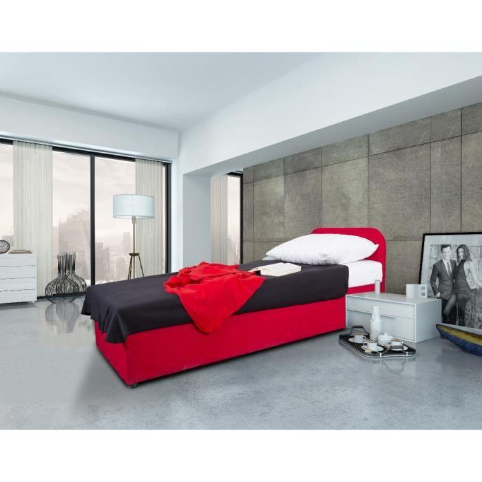 moov lit coffre enfant 90x190cm matelas rouge achat vente structure de lit moov lit coffre. Black Bedroom Furniture Sets. Home Design Ideas