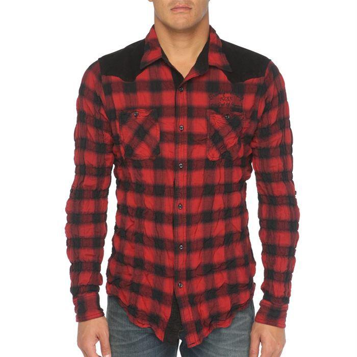 kaporal chemise homme rouge et noir achat vente chemise chemisette 3606503501258 cdiscount. Black Bedroom Furniture Sets. Home Design Ideas
