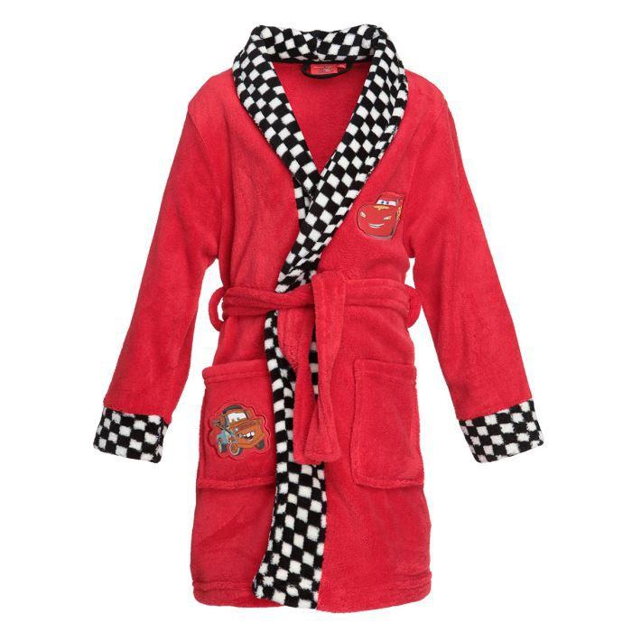 cars robe de chambre enfant gar on rouge achat vente pyjama chemise de nuit cars robe de. Black Bedroom Furniture Sets. Home Design Ideas