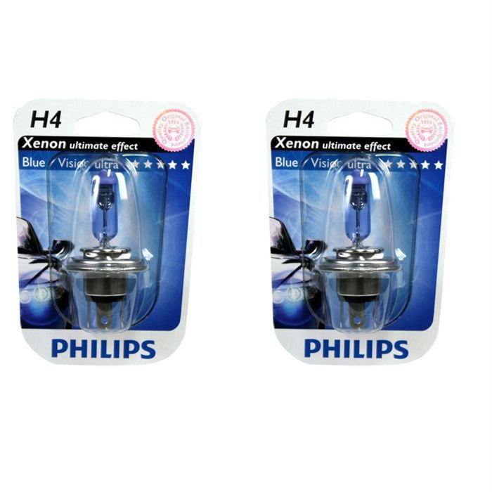 2 ampoules philips bluevision h4 12v 60 55w achat vente phares optiques 2 philips h4. Black Bedroom Furniture Sets. Home Design Ideas