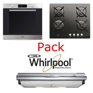 LOT APPAREIL CUISSON Pack Whirlpool : four + table induction + hotte