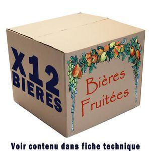 BIÈRE 12 bières fruitées  12 x 25/33cl
