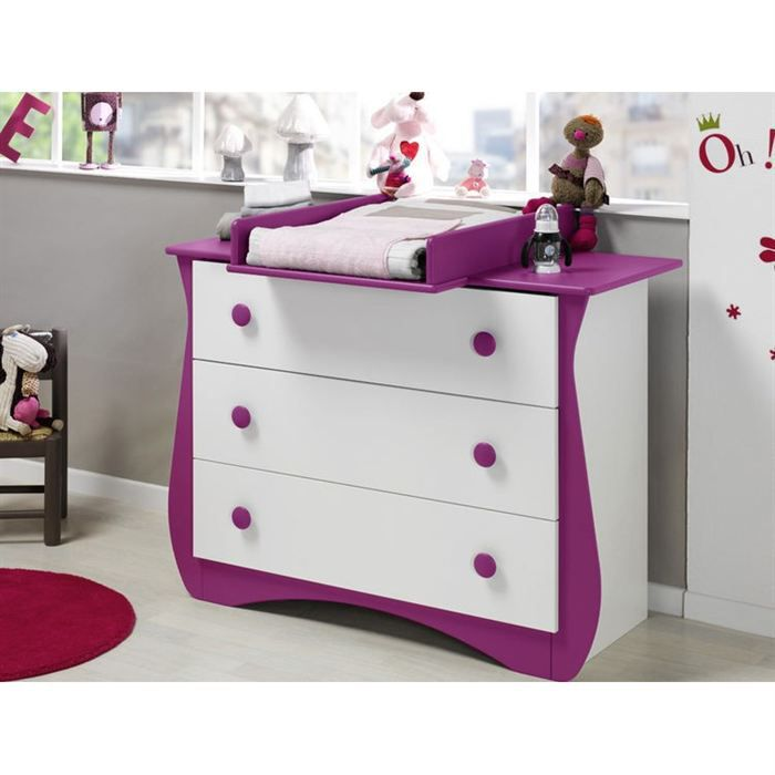 Katherine roumanoff commode doudou prune achat vente for Chambre katherine roumanoff