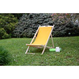 Chaise chilienne achat vente chaise chilienne pas cher les soldes sur cdiscount cdiscount - Chaise longue en bois et toile ...