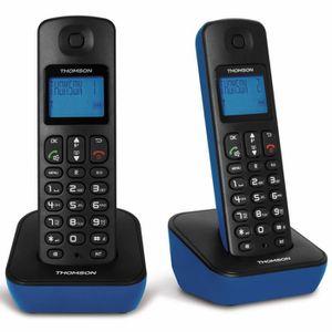 Téléphone fixe Thomson Mica Duo Bleu Sans Répondeur