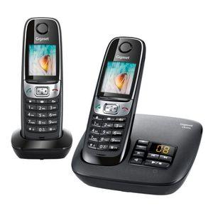 Téléphone fixe Gigaset C620 A Duo Noir Répondeur