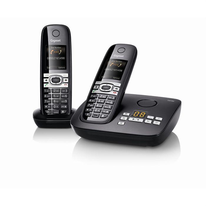 Téléphone fixe GIGASET C610A DUO Noir