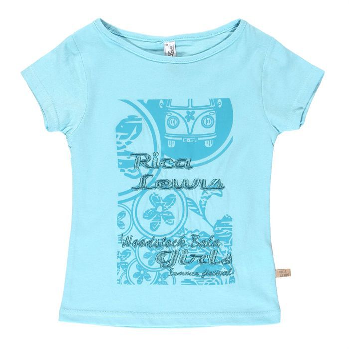 rica lewis tee shirt turquoise achat vente t shirt. Black Bedroom Furniture Sets. Home Design Ideas