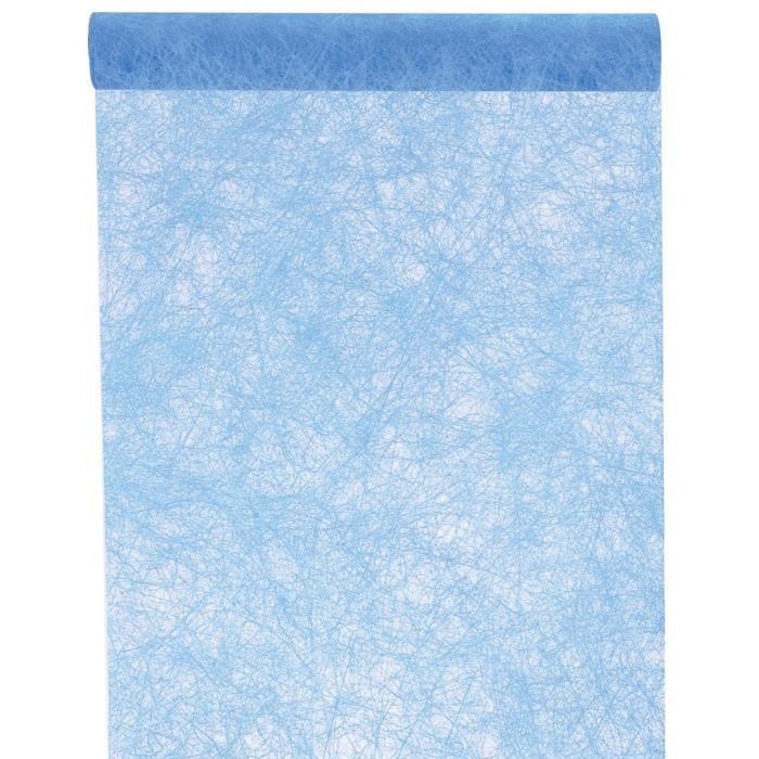 Santex chemin de table fanon turquoise achat vente for Chemin de table turquoise