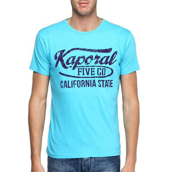 kaporal t shirt cousu homme turquoise achat vente t. Black Bedroom Furniture Sets. Home Design Ideas