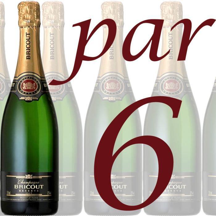 CHAMPAGNE Champagne Bricout Brut Réserve x6