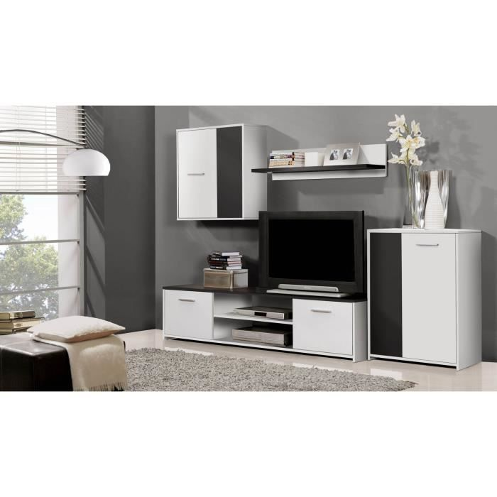 finlandek meuble tv mural katso 220cm coloris blanc et