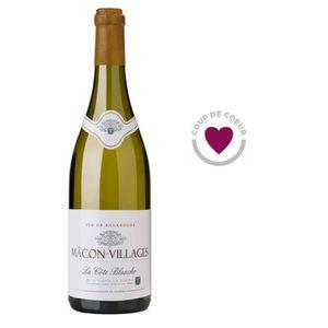 VIN BLANC Cave de Lugny Macon Villages 2015 - Vin blanc d...
