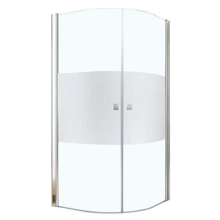 aqua porte de douche frisco angle 1 4 cercle 90 cm givr e achat vente porte de douche porte. Black Bedroom Furniture Sets. Home Design Ideas