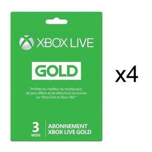 PACK ACCESSOIRE 4 abonnements Xbox Live Gold 3 mois