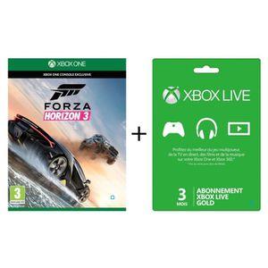 JEUX XBOX ONE Forza Horizon 3 Jeu Xbox One + Abonnement Xbox Liv
